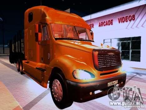 Freightliner Columbia für GTA San Andreas Rückansicht