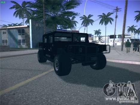 Hummer H1 1986 Police für GTA San Andreas rechten Ansicht
