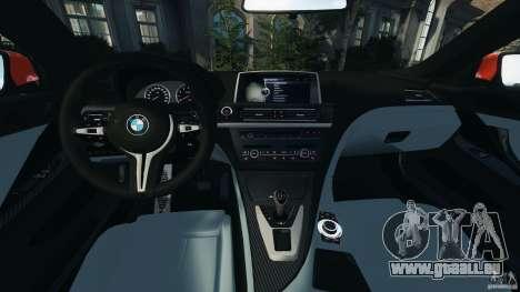 BMW M6 F13 2013 v1.0 pour GTA 4 Vue arrière