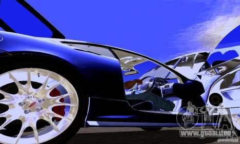 Jaguar XKRS für GTA San Andreas Innenansicht