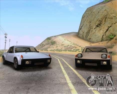 Porsche 914-6 für GTA San Andreas obere Ansicht