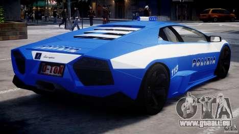 Lamborghini Reventon Polizia Italiana für GTA 4 rechte Ansicht