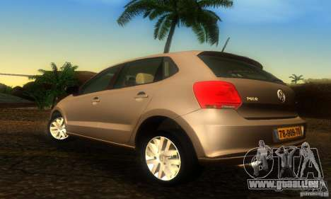Volkswagen Polo 1.2 TSI pour GTA San Andreas laissé vue