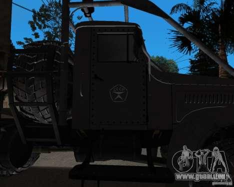 KrAZ 255 + remorque artict2 pour GTA San Andreas vue arrière