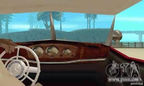Mercedes-Benz 500K pour GTA San Andreas vue intérieure
