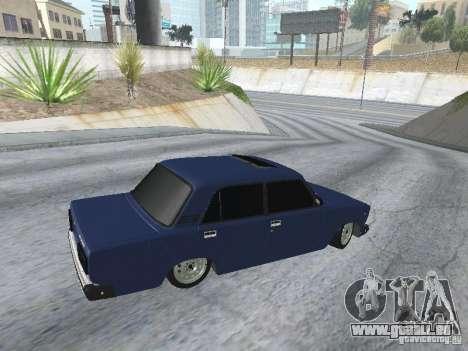 VAZ 2107 v2 für GTA San Andreas Rückansicht