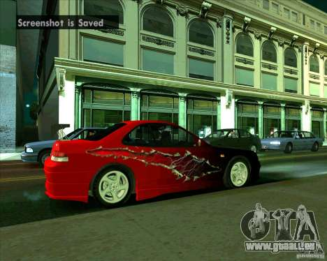 Honda Prelude avec tuning pour GTA San Andreas vue de droite