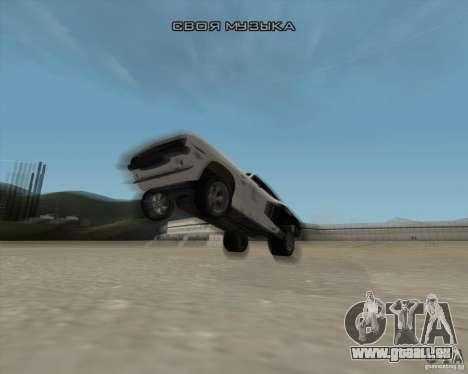 Plymouth Hemi Cuda Rogue pour GTA San Andreas vue de dessus
