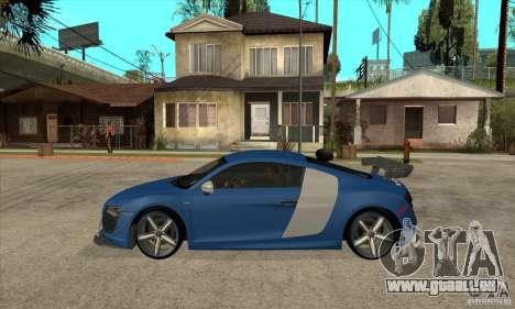 Audi R8 V10 v2 pour GTA San Andreas laissé vue