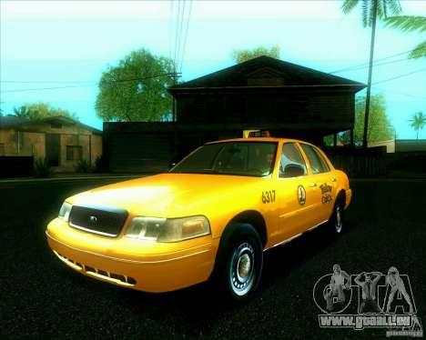 Ford Crown Victoria 2003 TAXI pour GTA San Andreas vue arrière