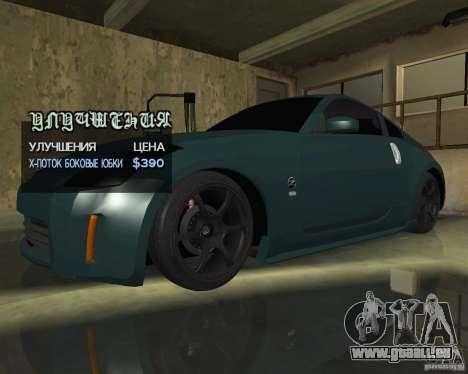 Nissan 350Z Tunable für GTA San Andreas obere Ansicht