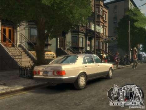 Mercedes-Benz W126 SEL560 1990 pour GTA 4 est un droit