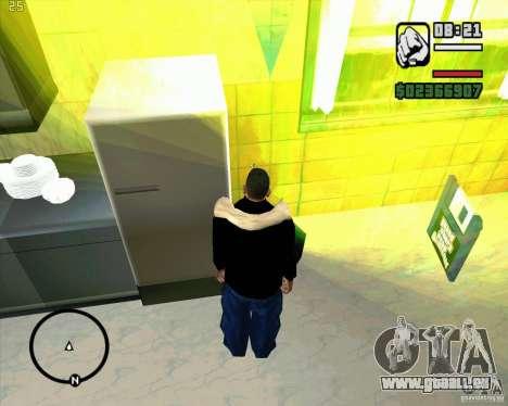 Faire les poubelles pour GTA San Andreas troisième écran