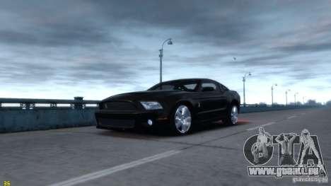 Ford Shelby Mustang GT500 2011 v2.0 pour GTA 4 est un droit
