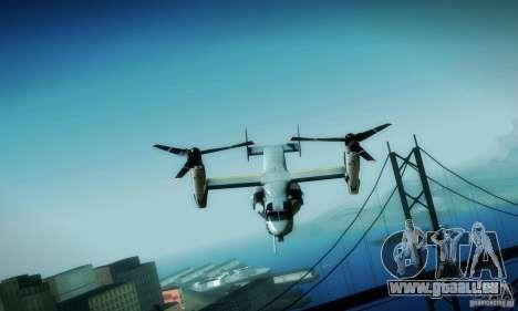 MV-22 Osprey für GTA San Andreas Seitenansicht