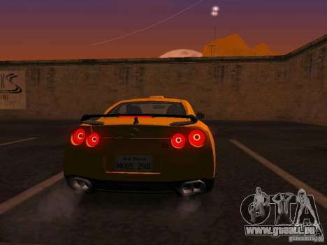 Nissan GT-R SpecV Black Revel pour GTA San Andreas vue de droite