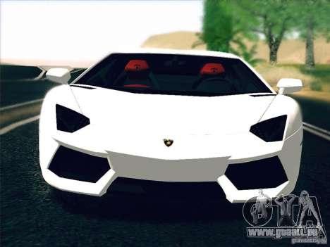 Lamborghini Aventador LP700-4 2011 V1.0 pour GTA San Andreas laissé vue