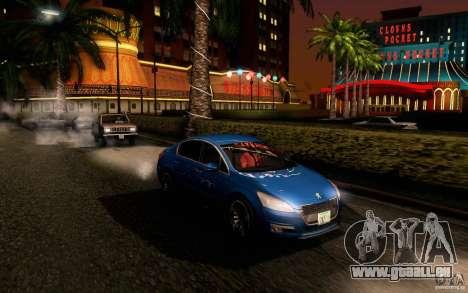 Peugeot 508 2011 pour GTA San Andreas vue de côté