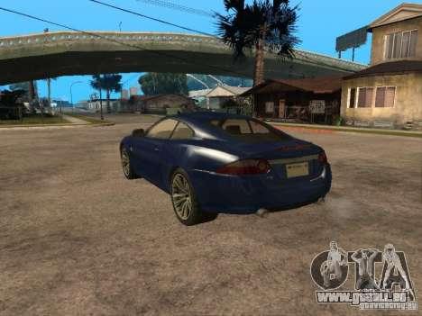 Jaguar XK pour GTA San Andreas laissé vue