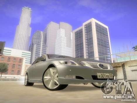 Lexus GS450H pour GTA San Andreas vue arrière