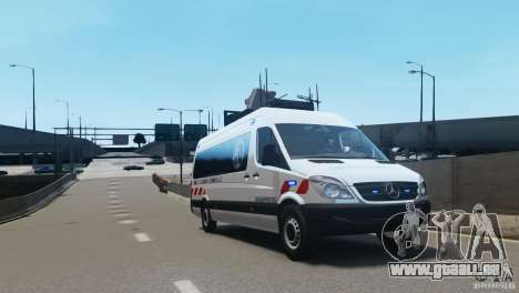 Mercedes-Benz Sprinter-Identification Criminelle für GTA 4 linke Ansicht