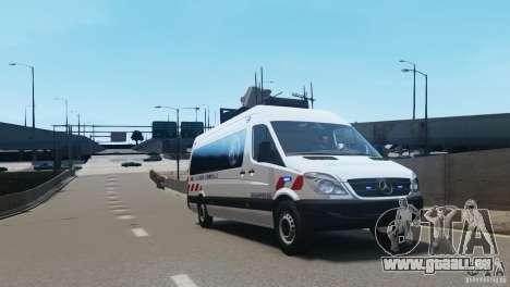 Mercedes-Benz Sprinter-Identification Criminelle pour GTA 4 est une gauche