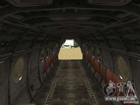 Hélicoptère Leviathan pour GTA San Andreas vue de droite