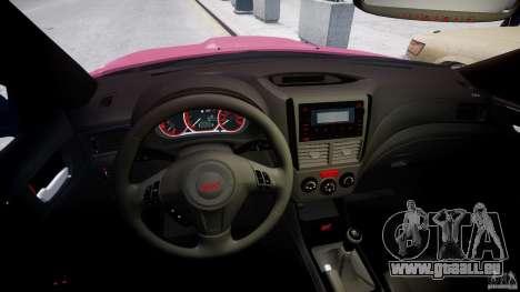 Subaru Impreza WRX STi 2011 pour GTA 4 est un droit
