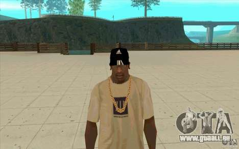 Adidas Baseball Cap-schwarz für GTA San Andreas