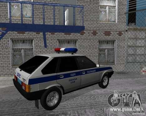 VAZ 2109 DPS pour GTA San Andreas laissé vue