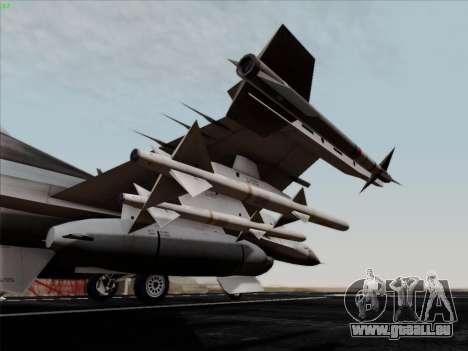 F-16C Warwolf für GTA San Andreas Seitenansicht