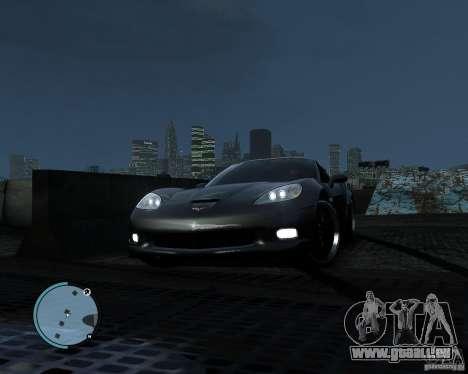 Chevrolet Corvette Grand Sport 2010 für GTA 4 Rückansicht