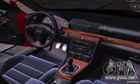 Audi S4 Light Tuning pour GTA San Andreas vue intérieure