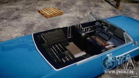 Dodge Dart 440 1962 pour GTA 4 vue de dessus
