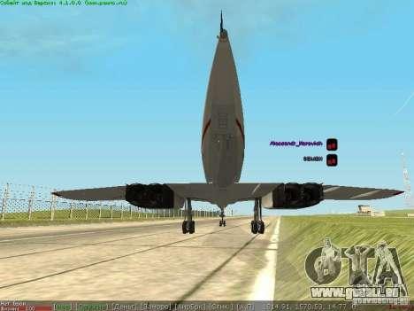 Concorde [FINAL VERSION] pour GTA San Andreas sur la vue arrière gauche