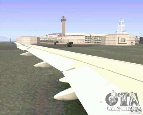 Airbus A-320 compagnie aérienne UTair pour GTA San Andreas vue arrière