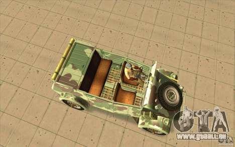 Kuebelwagen pour GTA San Andreas vue de droite