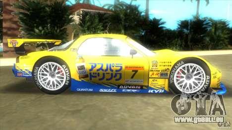 Mazda Re-Amemiya RX7 FD3S Super GT für GTA Vice City linke Ansicht