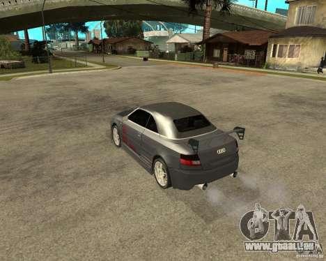 AUDI A4 Cabriolet pour GTA San Andreas sur la vue arrière gauche