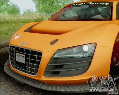 Audi R8 LMS GT3 für GTA San Andreas Rückansicht