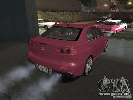 Mitsubishi Evolution X Stock-Tunable für GTA San Andreas Innen