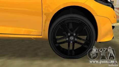 Renault Megane 3 Sport pour une vue GTA Vice City d'en haut