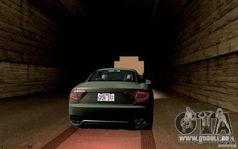 Maserati Gran Turismo 2008 pour GTA San Andreas vue intérieure