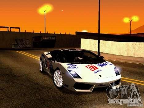 Lamborghini Gallardo LP560-4 pour GTA San Andreas vue de dessus
