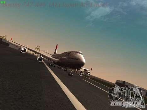Boeing 747-446 Japan-Airlines für GTA San Andreas Rückansicht