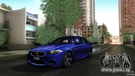 BMW M5 F10 2012 für GTA San Andreas obere Ansicht