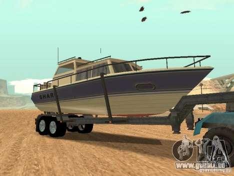 Boat Trailer pour GTA San Andreas vue arrière