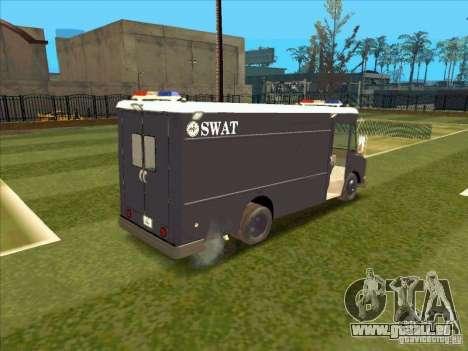 Swat Van from L.A. Police für GTA San Andreas Rückansicht
