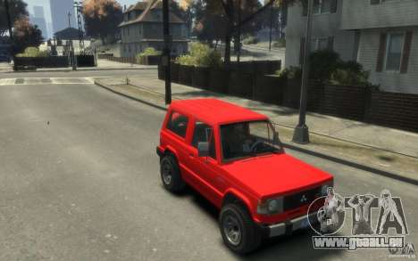 Mitsubishi Pajero I pour GTA 4 est un droit
