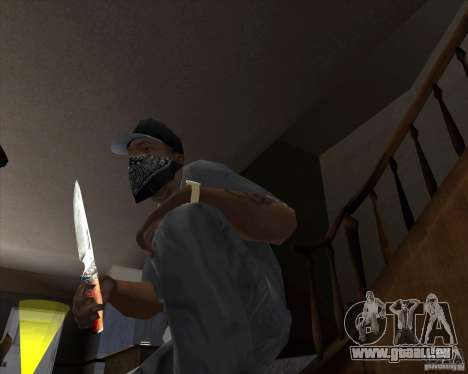 Lame de chasse pour GTA San Andreas deuxième écran